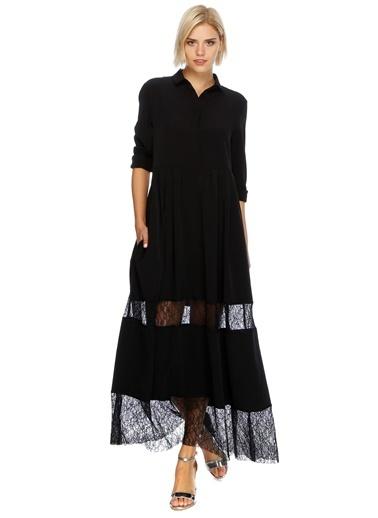 Dantelli Gömlek Elbise-Beymen Studio